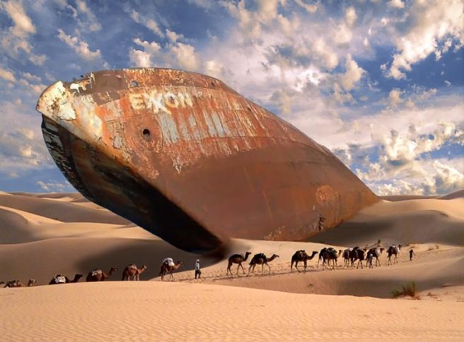 Exxon_desert_tanker